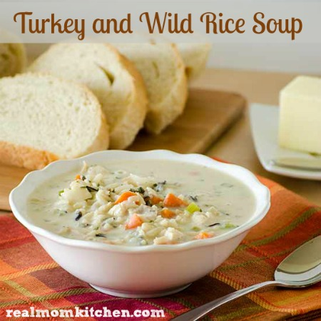 Turkey (or Chicken) and Wild Rice Soup | realmomkitchen.com