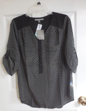 stitch fix 16 black blouse | realmomkitchen.com