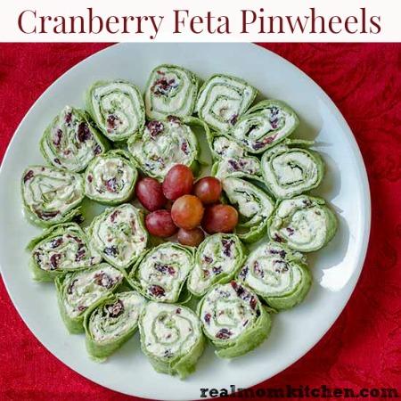 Cranberry Feta Pinwheels | realmomkitchen.com