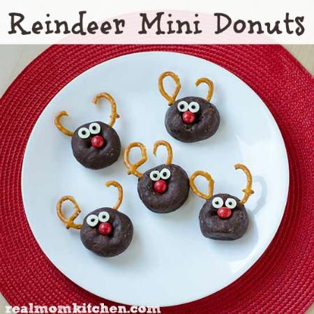 Reindeer Mini Donuts   realmomkitchen.com
