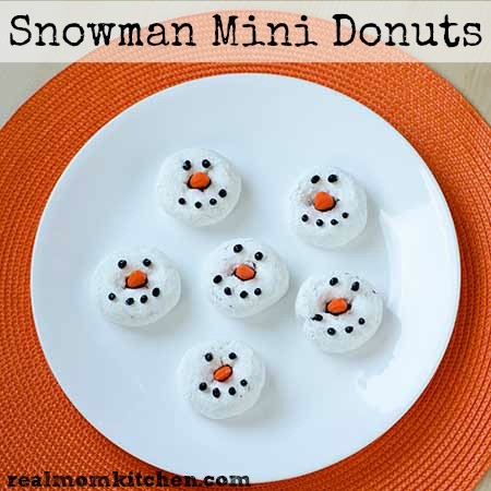 Snowman Mini Donuts   realmomkitchen.com