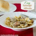 Easy Sausage Alfredo | realmomkitchen.com