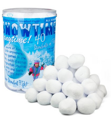 indoor snowballl fight kit