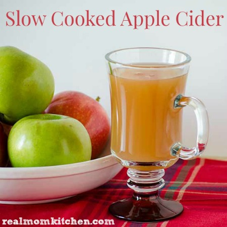 Slow Cooked Apple Cider | realmomkitchen.com