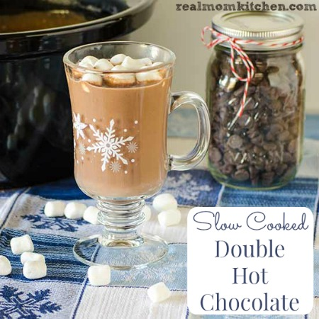 Slow Cooked Double Hot Chocolate | realmomkitchen.com