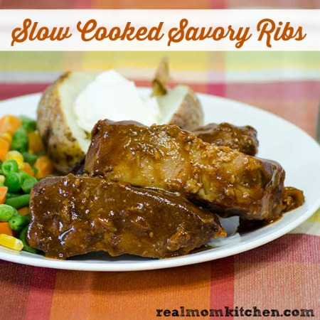 Slow Cooked Savory Ribs   realmomkitchen.com