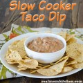 Slow Cooker Taco Dip | realmomkitchen.com