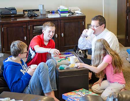 family game time - indoor winter activites