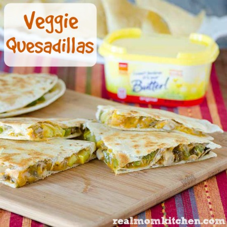 Veggie Quesadillas | realmomkitchen.com