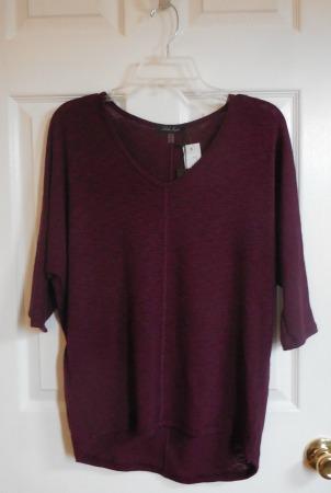 stitch fix 19 burgundy top