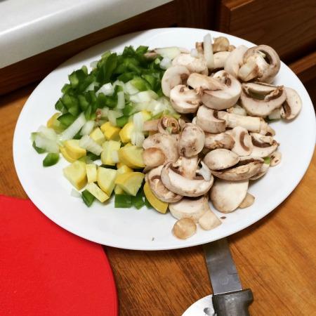 veggies for veggie quesadillas