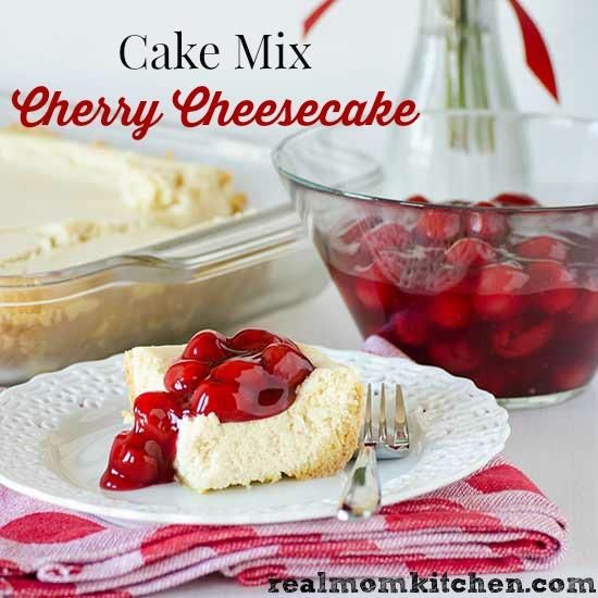 Cake Mix Cherry Cheesecake l| realmomkitchen.com