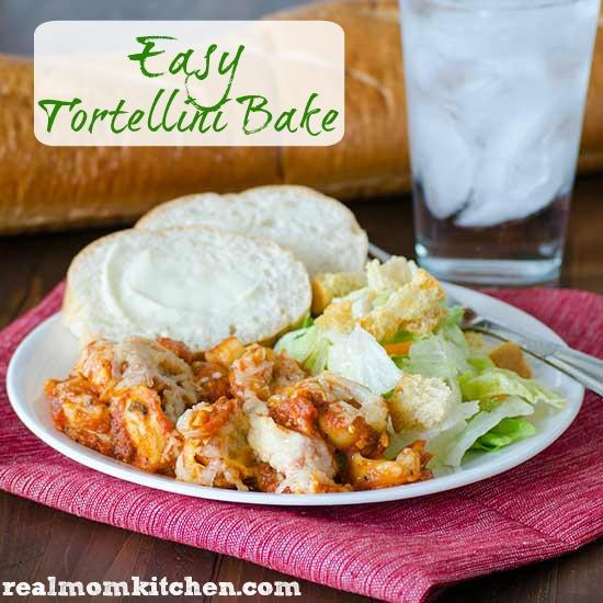 Easy Tortellini Bake | realmomkitchen.com