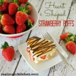 Heart Shaped Strawberry Puffs | realmomkitchen.com