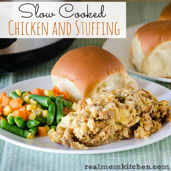 Slow Cooked Chicken and Stuffing | realmomkitchen.com