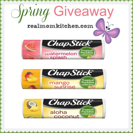 Chapstick spring giveaway | realmomkitchen.com