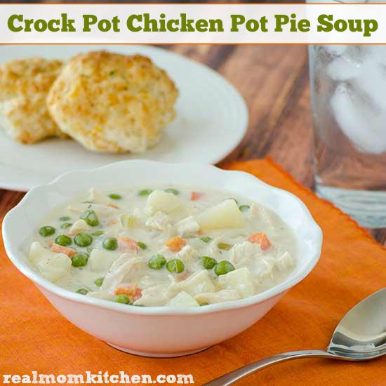 Crock Pot Chicken Pot Pie Soup | realmomkitchen.com