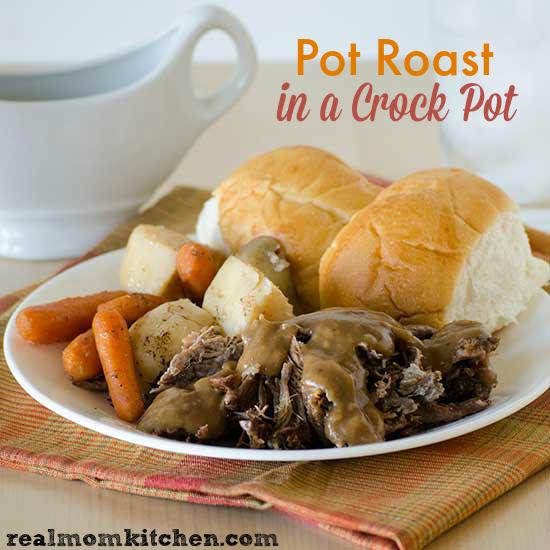 Pot Roast In A Crock Pot | realmomkitchen.com