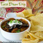 Taco Bean Dip | realmomkitchen.com