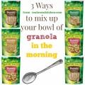 3 ways to mix up your granola | realmomkitchen.com #NVGranola