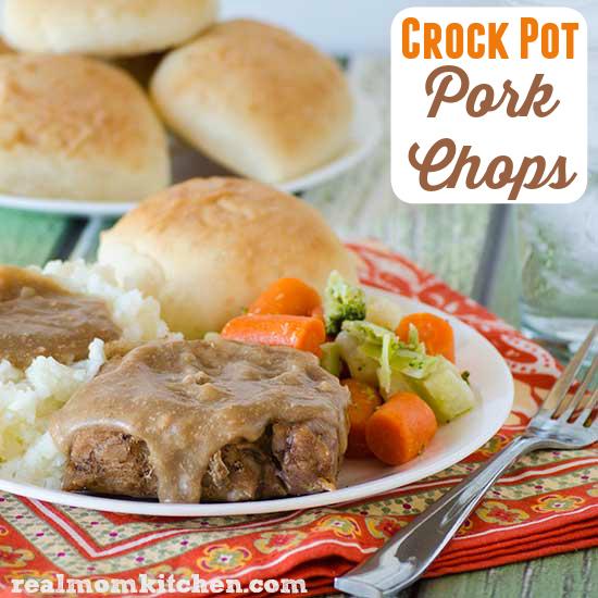 Crock Pot Pork Chops | realmomkitchen.com