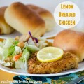 Lemon Breaded Chicken | realmomkitchen.com