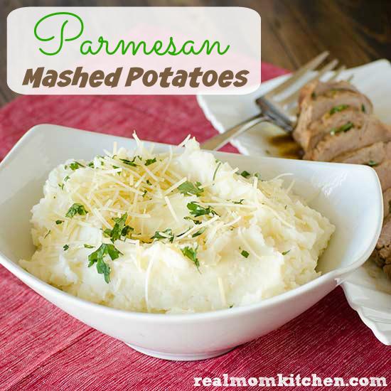 Parmesan Mashed Potatoes l| realmomkitchen.com