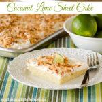 Coconut Lime Sheet Cake   realmomkitchen.com