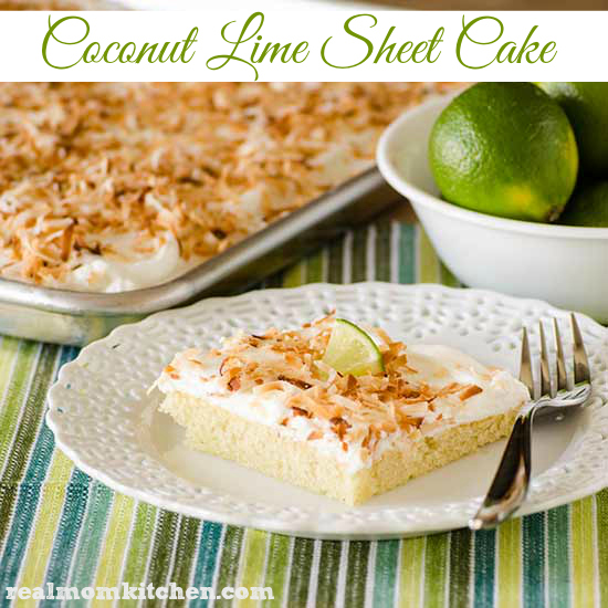 Coconut Lime Sheet Cake | realmomkitchen.com