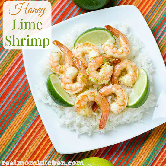 Honey Lime Shrimp | reamomkitchen.com
