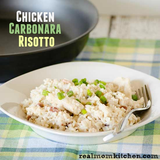 Chicken Carbonara Risotto| realmomkitchen.com