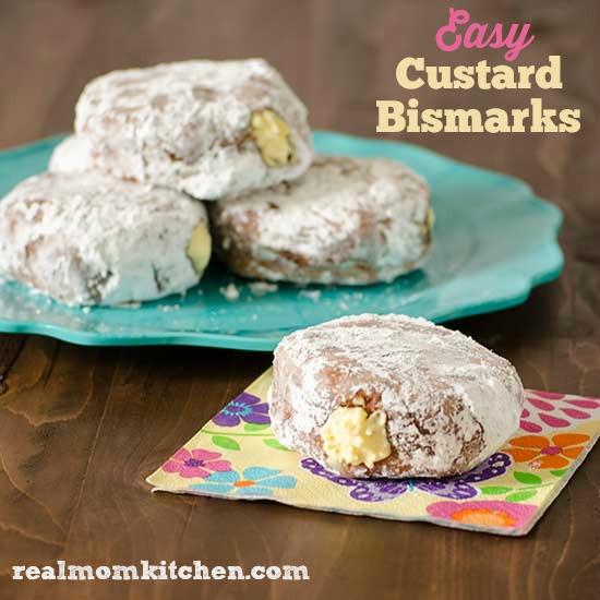 Easy Custard Bismarks | realmomkitchen.com