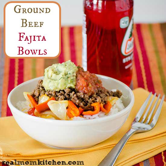 Ground Beef Fajita Bowls | realmomkitchen.com