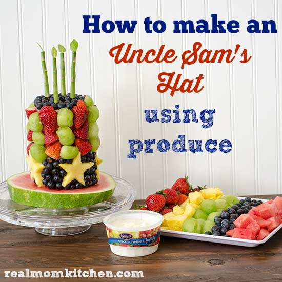 Uncle Sam's Hat made using produce   realmomkitchen.com