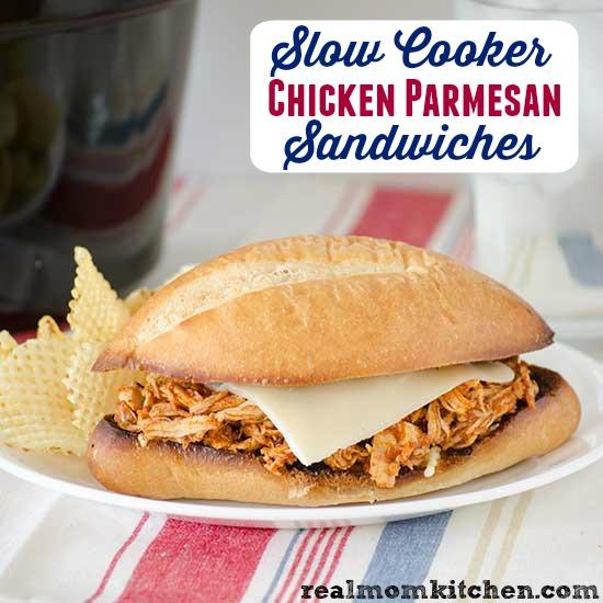 Slow Cooker Chicken Parmesan Sandwiches | realmomkitchen.com