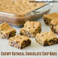 Chewy Oatmeal Chocolate Chip Bars | realmomkitchen.com