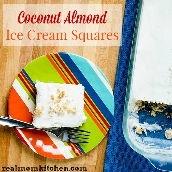 Coconut Almond Ice Cream Squares | realmomkitchen.com #CelebratingFood2015