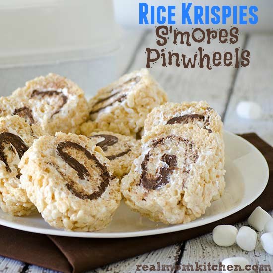 Rice Krispies S'mores Pinwheels | realmomkitchen.com