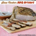 Slow Cooker BBQ Brisket | realmomkitchen.com