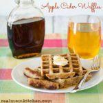 Apple Cider Waffles | realmomkitchen.com