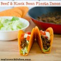 Beef and Black Bean Fiesta Tacos | realmomkitchen.com