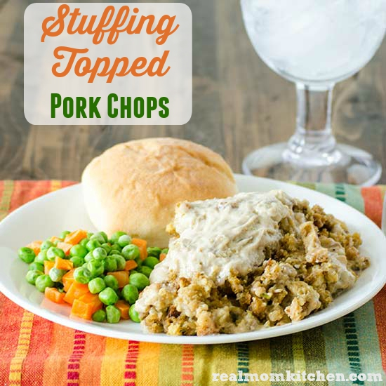 Stuffing Topped Pork Chops | realmomkitchen.com