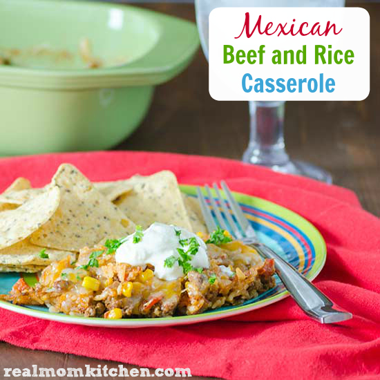 Mexican Beef and Rice Casserole | realmomkitchen.com