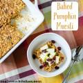 Pumpkin Baked Muesli | realmomkitchen.com #muesli #naturevalley