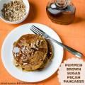Pumpkin Brown Sugar Pecan Pancakes | realmomkitchen.com
