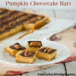 Pumpkin Cheesecake Bars | realmomkitchen.com