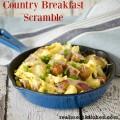 Country Breakfast Scramble | realmomkitchen.com #SausageSunday #JohnsonvilleSausageSwap