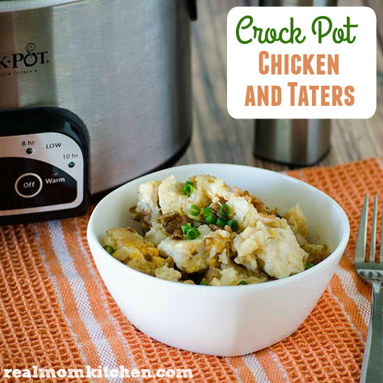 Crockpot Chicken and Taters | realmomkitchen.com