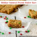 Holiday Oatmeal Peanut Butter Bars | realmomkitchen.com