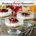 No Bake Cranberry Orange Cheesecakes | realmomkitchen.com